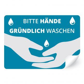 Bitte Hände gründlich waschen.